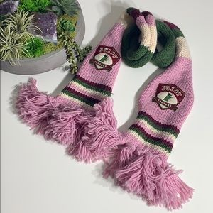 Juicy Couture Wool Extra Long Chunky Knit Scarf